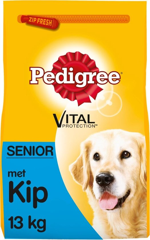 Pedigree Senior Hondenbrokken - Kip, Rijst & Groenten - Hondenvoer - 13kg