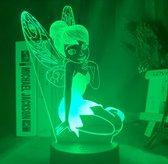 Tinkerbell lamp /Nachtlamp voor meisje. Tinkerbell elfje lamp. 3D illusie lamp. Nachtlamp Tinkerbell / Mooie sfeerlamp, nachtlamp voor meisjeskamer.