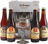 La Trappe Geschenkverpakking met glas - 4 x 33 cl