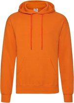 Fruit of the Loom capuchon sweater oranje voor volwassenen - Classic Hooded Sweat - Hoodie - Heren kleding S (EU 48)