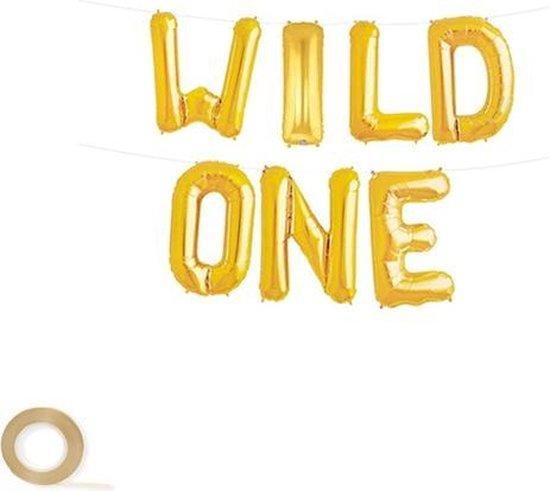 Wild One Versiering - Goud - Wild One Verjaardag - Folieballon Wild One
