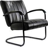Bel Air Retro Loungestoel LC-01 Full Black