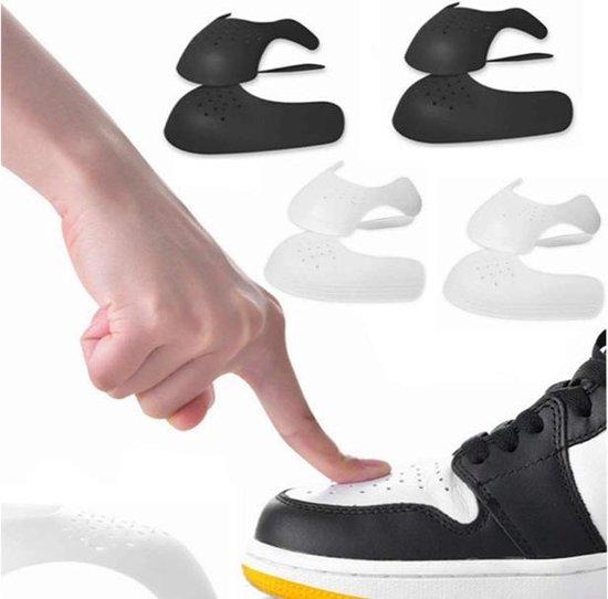 Sneaker protector | Force shield | Kleur Wit | Maat 41-45 (L) | Crease protector | Anti keuk | Schoen bescherming | Decreaser