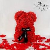 Rozen beer – Rozen teddybeer - Rose bear - Moederdag Cadeautje - Liefde - Verjaardag - Rozenbeer - Rood