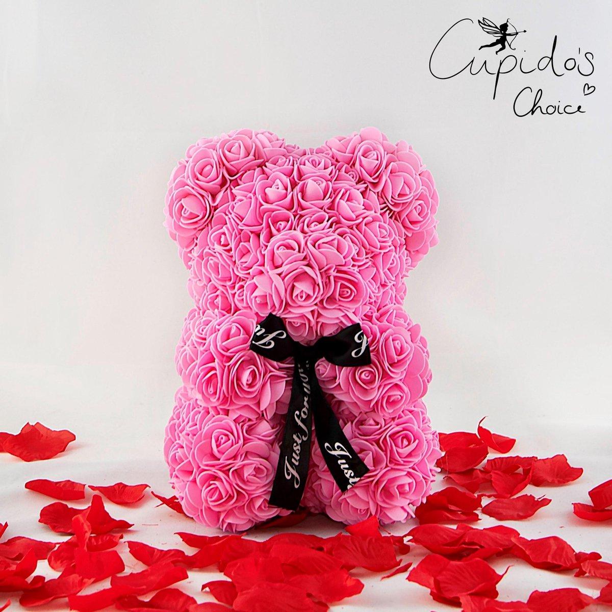 Cupido's Choice ® Rozen beer – Rozen teddybeer - Rose bear - Moederdag - Rozenbeer - Roze