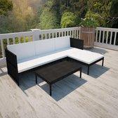 Lounge set voor buiten - 3 zits bank - zwart