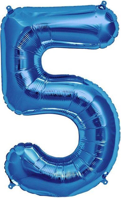 Folie ballon blauw 5