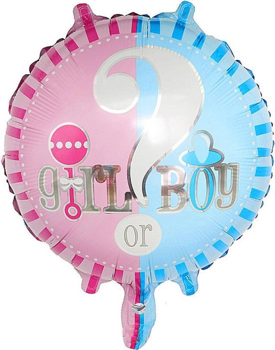 Folieballon Boy or Girl - Gender reveal party - onthulling geslacht - helium - 2 stuks