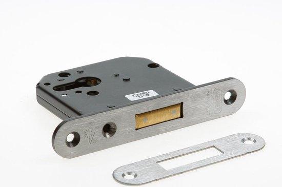 Nemef bijzetslot ronde voorplaat rvs doornmaat 60mm