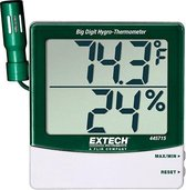 EXTECH 445715: Big Digit Hygro-Thermometer met Remote Probe