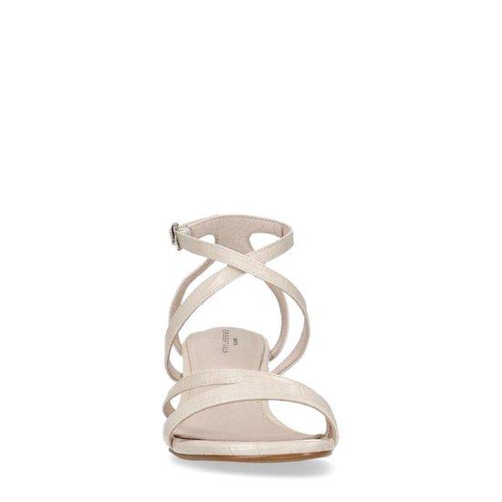 Sacha - Dames - Latte crocoprint sandalen met hak - Maat 41 Jpi1WjQt