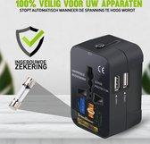 Reisstekker usa naar eu - reisstekker uk naar eu - 2 USB Poorten - Internationale Reisstekker voor 150+ landen - Reis Adapter - Wereld Stekker -
