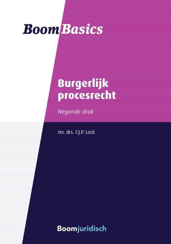 Boom Basics - Burgerlijk procesrecht - F.J.P. Lock |