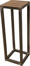 Zuil industrieel met houten top, 80 cm