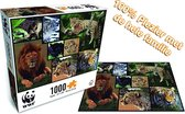 Puzzel 1000 Stukjes Volwassenen - Puzzel Volwassenen Dieren - WWF Puzzel wild cats - Puzzle