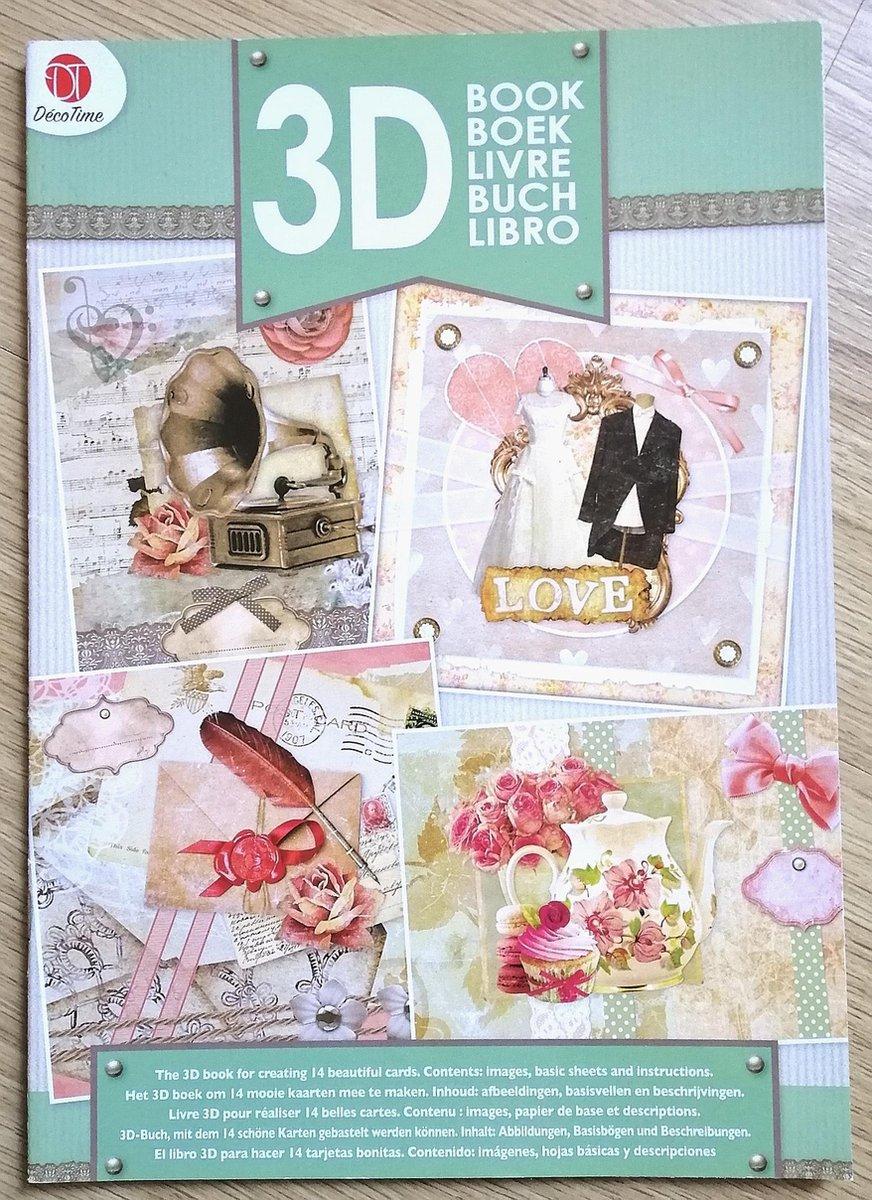 Fonkelnieuw bol.com   Decotime 3D boek groen met knipvellen om 14 mooie HC-68