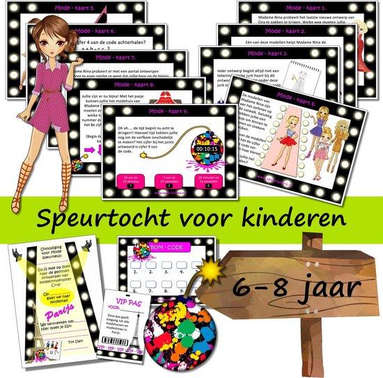 Afbeelding van het spel Speurtocht voor kinderen- Cira en de gestolen modeontwerpen  - 6 t/m 8 jaar - kinderfeestje - speurtocht  - compleet draaiboek - PRINT ZELF UIT!