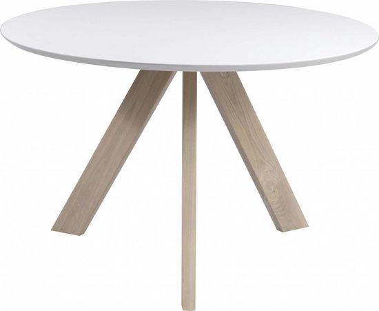 Duverger Eettafel - wit - eik - rond - 120 x 76