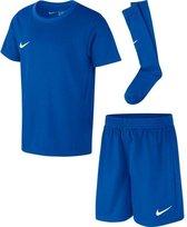 Nike Dry Park Kit Set Sportshirt performance - Maat 104  - Unisex - blauw
