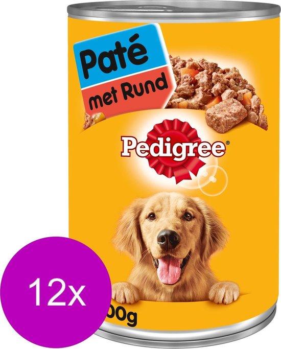Pedigree - Blik - Hondenvoer - Adult - Paté - Rundvlees - 12 x 400 g
