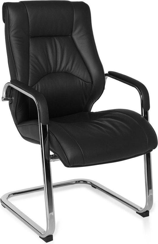 Vergaderstoel - Bezoekersstoel - Ergonomisch - Zittijd 4 uur - Leer