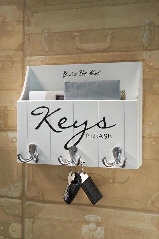 Bol Com Rivièra Maison Keys Please Wall Organiser Wandelement Wit