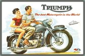 Metalen Wandbord - Triumph Thunderbird Best Motorcycle In The World