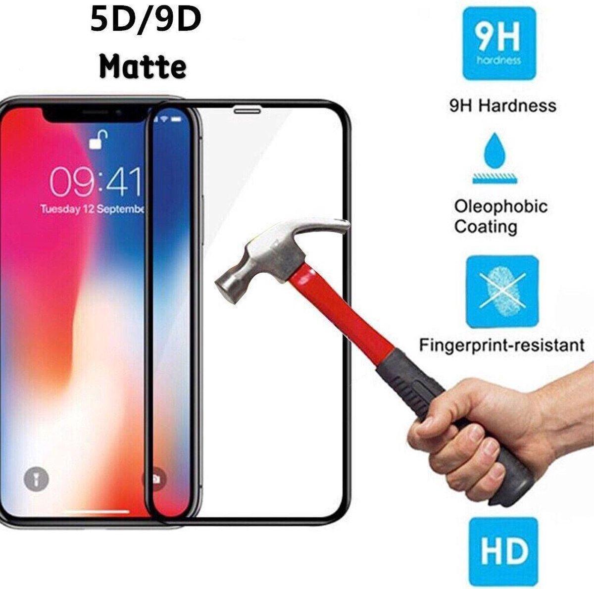 2 stuks bescherm glas Full Cover Screenprotector voor Iphone XS Max en 11proMax Full Cover 9D extra sterk