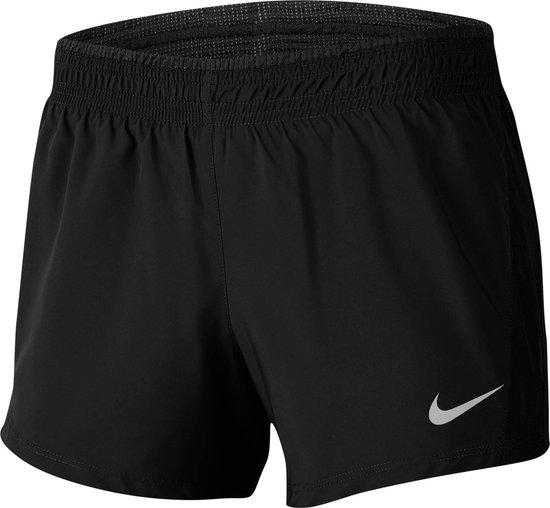 Nike Nk 10K 2In1 Short Sportbroek Dames - Black/Black/Black/Wolf Grey - Maat L