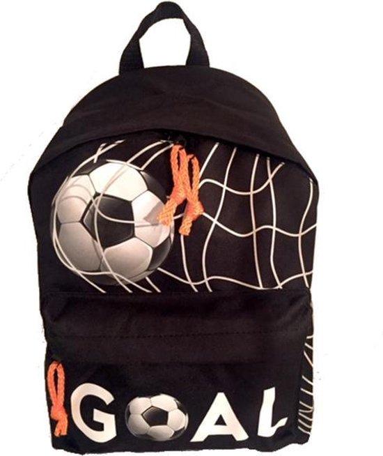 Run Away Goal! VOETBAL Rugzak - Lagere school - Basis Schooltas - Zwart Oranje - Stoer !