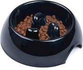TZ® Anti-schrokbak voor honden | Anti-slip Hondenkom gemaakt van melamine | Natural BPA-vrije voerbak | Slow feeder voor honden en katten | Vermindert opname en overeten voerbak | Slow bowl hondenkom