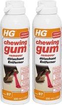 HG chewing gum remover - Kauwgom verwijderaar in tapijt & Textiel | 2 Stuks !