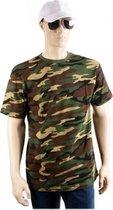 Army camouflage t-shirt korte mouw XL