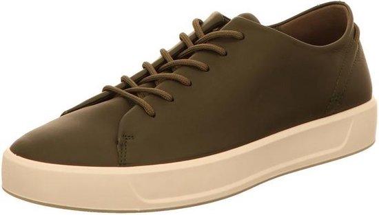 Ecco Soft 8  heren sneaker - Donker groen - Maat 41