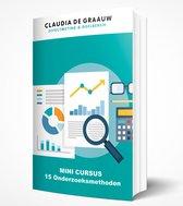 15 Onderzoeksmethoden - Claudia de Graauw