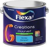 Flexa Creations Muurverf - Extra Mat - Mengkleuren Collectie - Vol Zee - 2,5 liter