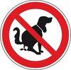 Verbodsbord 'Verboden voor hondenpoep', aluminium, 200 mm