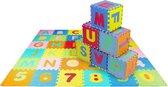 LifeGoods ABC Speelmat XL - 36-delig Alfabet Puzzel van Schuim Vloer Tegels met Letters en Cijfers - 180x180 cm