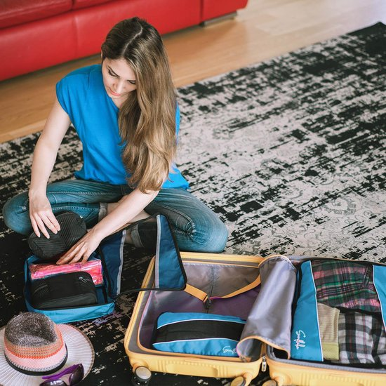 Packing Cubes Set 3 delig - Blauw