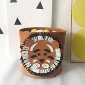 Speelgoedmand kinderen – Opbergmand Kinderkamer Wasmand – Kind Opbergzak speelgoed – Speelgoedkist decoratie - Leeuw