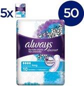 Always Discreet voor urineverlies maandverband - Long - Voordeelverpakking 50 Stuks