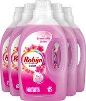 Robijn Color Pink Sensation Vloeibaar Wasmiddel - 5 x 22 wasbeurten - Voordeelverpakking