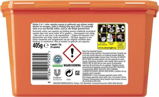 Robijn Color 3 in 1 Wascapsules - 4 x 15 wasbeurten - Voordeelverpakking