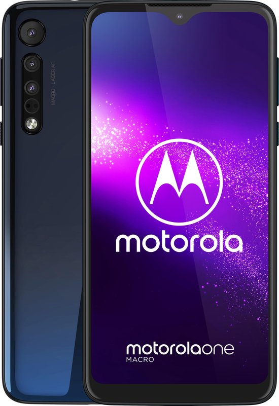 Motorola One Macro - 64GB - Space Blue (Blauw)