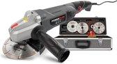 Powerplus POWESET2 Haakse slijper – 900 W – Ø125 mm schijfdiameter - incl. 6 accessoires