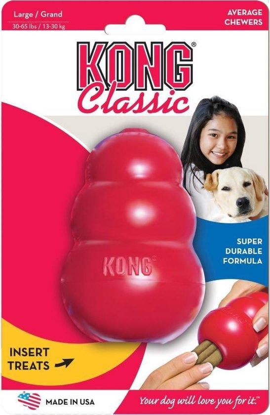 KONG - Kauwbot - Hondenspeelgoed - Duurzaam en therapeutisch - Rood - S
