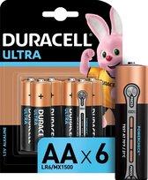Duracell Ultra alkaline AA-batterijen, verpakking van 6