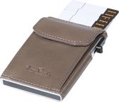 Tony Perotti Aluminium RFID portemonnee met kleingeldvak - Taupe