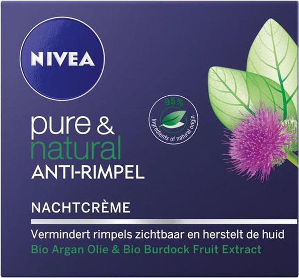 NIVEA Pure & Natural Anti-Rimpel Nachtcrème - 50 ml - NIVEA