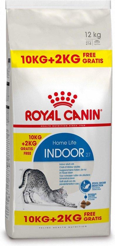 Royal Canin Indoor 27 - Kattenvoer - 10+2 kg Bonusbag